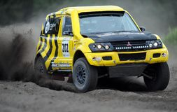 Poolse Safari Rally Cross Championship Royalty-vrije Stock Afbeeldingen