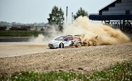 Poolse Safari Rally Cross Championship Royalty-vrije Stock Afbeelding