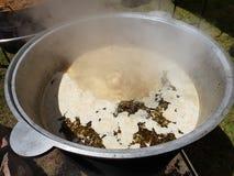Poolse soep zhurek stock afbeeldingen