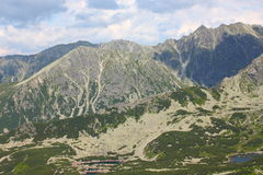 Poolse Tatra-Bergen - mening van Kasprowy Royalty-vrije Stock Foto's