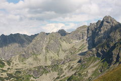 Poolse Tatra-Bergen - mening van Kasprowy Royalty-vrije Stock Afbeelding