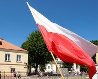 Poolse vlag Royalty-vrije Stock Foto's