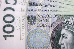 Poolse zloty Stock Afbeelding