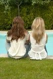 Poolside beauties Royalty Free Stock Photos