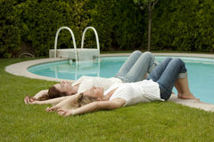Poolside beauties Royalty Free Stock Images