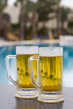 Poolside beer Stock Photos