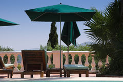 Poolside at bormes les mimosas. Stock Image