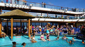 Poolside on the Carnival Breeze Stock Images