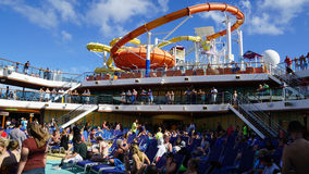 Poolside on the Carnival Breeze Royalty Free Stock Photos