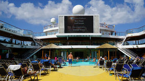 Poolside on the Carnival Breeze Stock Photo
