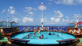 Poolside on the Carnival Breeze Royalty Free Stock Images