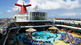 Poolside on the Carnival Breeze Royalty Free Stock Photo