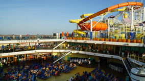 Poolside on the Carnival Breeze Stock Image