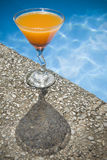 Poolside Cocktail Stock Photos