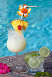 Poolside Cocktails Stock Image