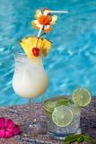 Poolside Cocktails Stock Image