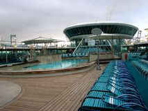 Poolside deck. Empty poolside deck on a cruiseship Royalty Free Stock Images