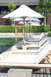 Poolside della sedia Fotografie Stock Libere da Diritti