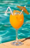 Poolside Drink Stock Image
