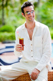 Poolside Drinks Royalty Free Stock Photos