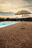 Poolside dusk Stock Image