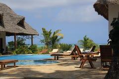 Poolside en Zanzibar Fotos de archivo libres de regalías