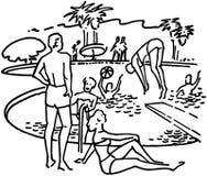 Poolside Fun Stock Image