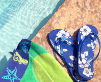 Poolside Gear. Summer sun fun Stock Image