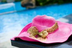 Poolside hat Stock Photos