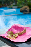 Poolside hat Royalty Free Stock Image