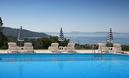 Poolside at le lavandou Stock Image