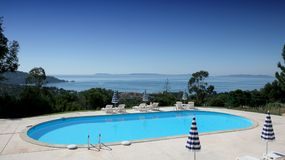 Poolside at le lavandou Royalty Free Stock Image