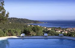 Poolside at Le Lavandou, french riviera, france Royalty Free Stock Image