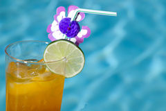 Poolside Mai Tai Royalty Free Stock Images