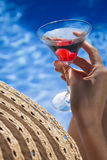 Poolside Martini Royalty Free Stock Photography