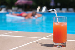 POOLSIDE ORANGE Royalty Free Stock Images