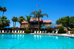 Poolside in Palm Spring Fotografia Stock Libera da Diritti