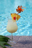 Poolside Pina Colada Stock Images