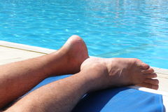Poolside relaks Fotografia Royalty Free