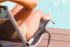 Poolside relax Stock Photo