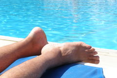 Poolside relax Stock Images