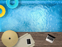 Poolside relaxation Stock Photography