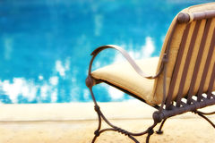 Poolside retreat Royalty Free Stock Photo
