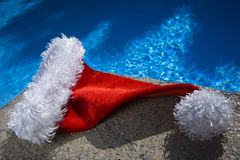 Poolside Santa Hat Stock Images
