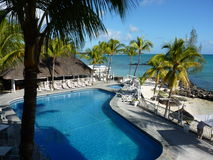 Poolside View Of Luxury Hotel. In Mauritius Island Stock Image