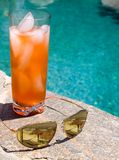 Poolside Visions. Poolside aviators with reflection Royalty Free Stock Photos