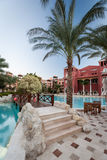 Poolsidehotel, Egypte Royalty-vrije Stock Fotografie