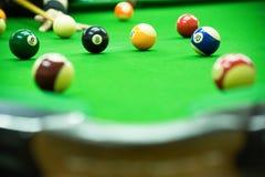 Poolspiel Stockfotografie