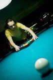 Poolspieler lizenzfreies stockfoto