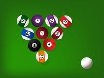 Poolspielkugeln Lizenzfreies Stockfoto